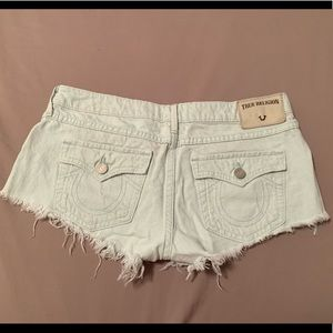 True Religion Distressed Joey Shorts